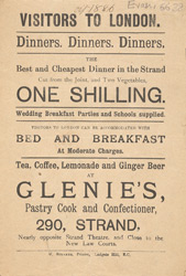 Advert For Glenie's Confectionery & Cafe